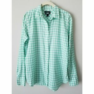 J. Crew Boy Shirt Crinkled Gingham